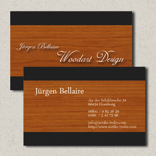 Visitenkarte Woodart Design Jürgen Bellaire