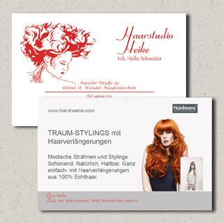 Visitenkarte Haarstudio Heike Schneider