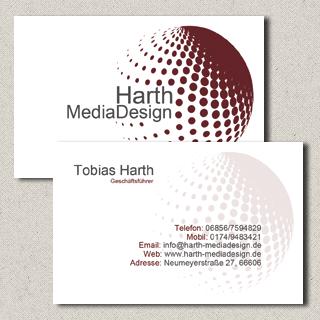 Visitenkarte Harth MediaDesign